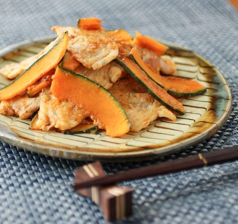 豚肉とカボチャの生姜焼き