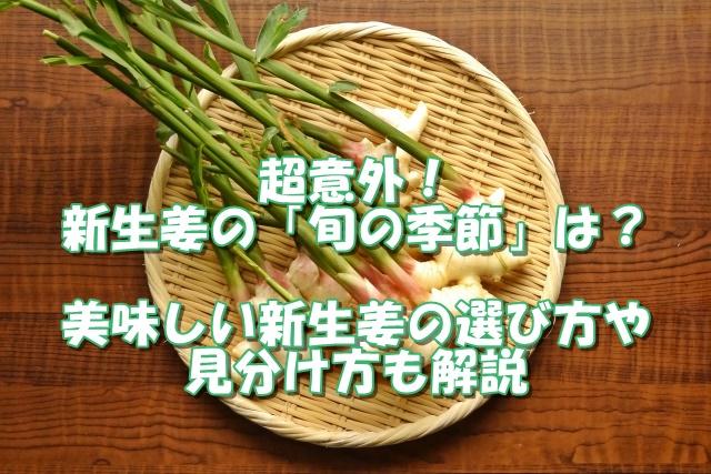 超意外!新生姜の旬の季節は?美味しい新生姜の選び方や見分け方も解説